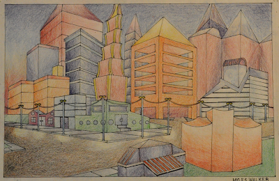 fantasy city scape in 2 point perspective mrs briggs website